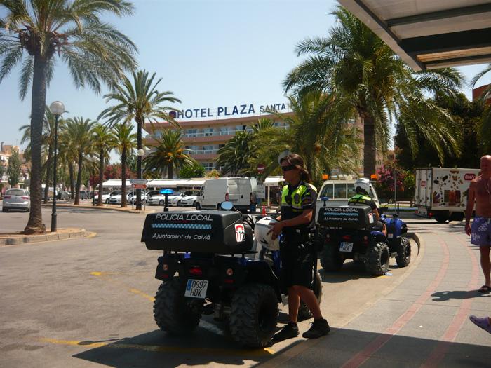 полицейские на квадрациклах